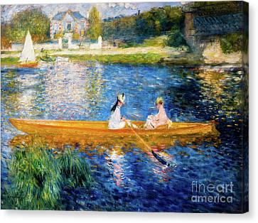 Renoir Boating On The Seine Canvas Print