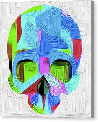 The Skull By Nixo Canvas Print by Nicholas Nixo