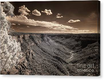 The Sky Tilts Down To The Canyon Canvas Print by William Fields