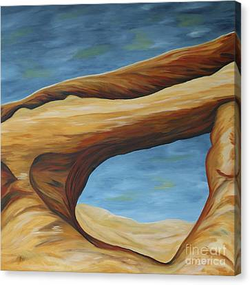 Canvas Print featuring the painting The Skyline Arch by Christiane Schulze Art And Photography