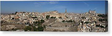 The Skyline Of Toledo Spain Canvas Print by Farol Tomson