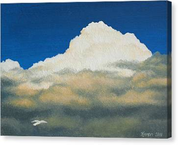 The Sky's The Limit Canvas Print by Karen Coombes