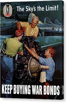The Sky's The Limit - Ww2 Canvas Print