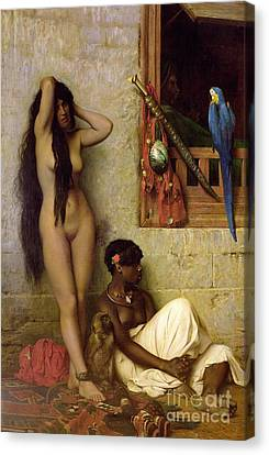 The Slave For Sale Canvas Print by Jean Leon Gerome