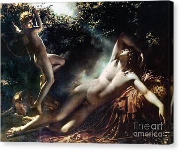 The Sleep Of Endymion Canvas Print by Granger