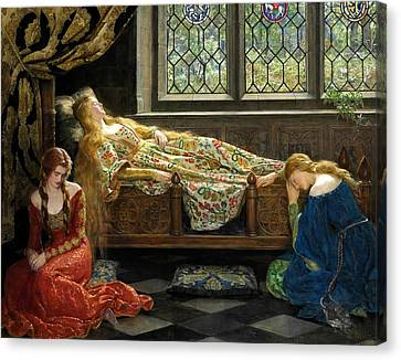 Collier Canvas Print - The Sleeping Beauty  by John Collier