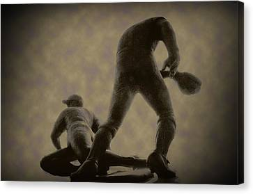 The Slide - Kick Up Some Dust Canvas Print by Bill Cannon