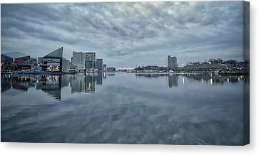 Canvas Print featuring the photograph The Sliver Of Sunrise by Mark Dodd