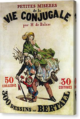 Balzac Canvas Print - The Small Miseries Of A Marriage 1830 by Daniel Hagerman