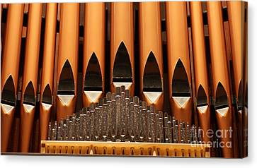 The Small Wall Organ Pipes...   # Canvas Print by Rob Luzier