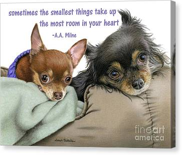 Long Bed Canvas Print - The Smallest Things by Sarah Batalka