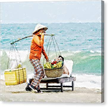 The Smiling Vendor Canvas Print