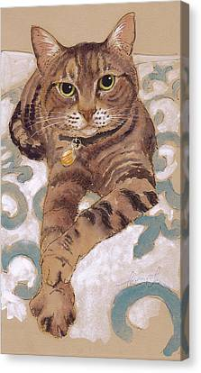 The Smooth-talkin' Cat Canvas Print by Tracie Thompson