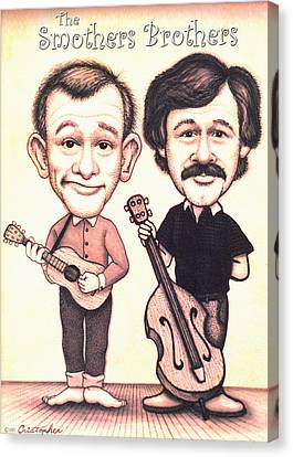 The Smothers Brothers Canvas Print by Cristophers Dream Artistry