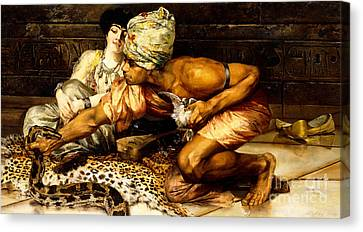 The Snake Charmer Canvas Print by Eugene Pavy