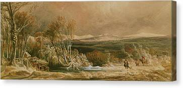 The Snow Drift  Canvas Print by Peter de Wint