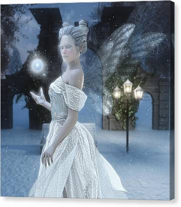 The Snow Fairy Canvas Print by Melissa Krauss