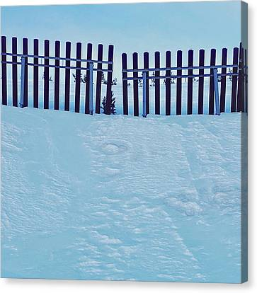 The Snow Fence Canvas Print by Contemporary Art