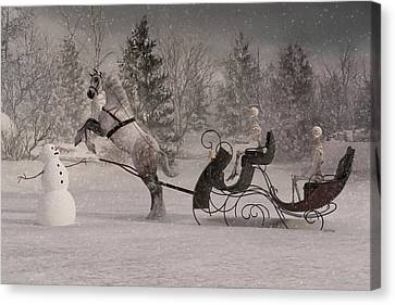 Bones Canvas Print - The Snowman by Betsy Knapp