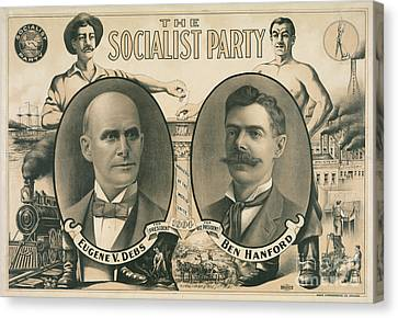 The Socialist Party Presidential Ticket Of 1904 Canvas Print