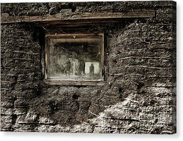 Canvas Print featuring the photograph The Sod House by Brad Allen Fine Art