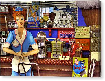 Burger Canvas Print - The Soda Fountain by David Patterson