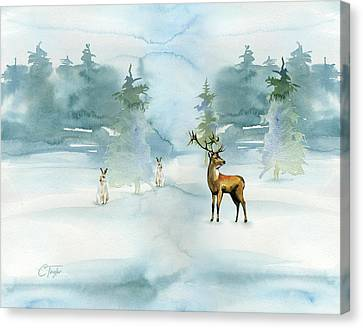 The Soft Arrival Of Winter Canvas Print by Colleen Taylor