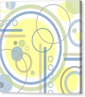 The Softness Of Circles Canvas Print