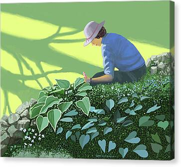 The Solace Of The Shade Garden Canvas Print