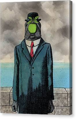 The Son Of Manatee Canvas Print by Bizarre Bunny