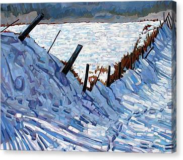 Realism Canvas Print - The Son Of The Fence by Phil Chadwick