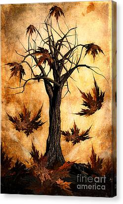 The Song Of Autumn Canvas Print by John Edwards