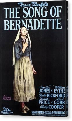The Song Of Bernadette, Jennifer Jones Canvas Print