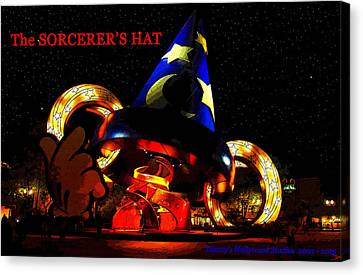Hollywood Studios Canvas Print - The Sorcerer's Hat 2001 by David Lee Thompson