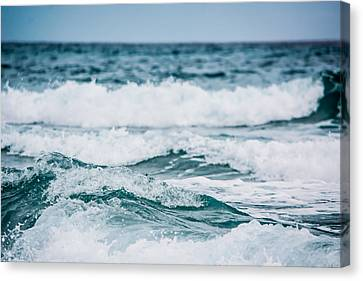 The Sound Of Crashing Waves Canvas Print by Shelby Young
