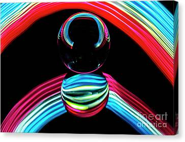 Curve Ball Canvas Print - The Sound Of Light 8 by Bob Christopher