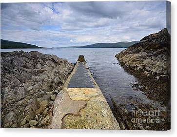 The Sound Of Mull Canvas Print by Nichola Denny
