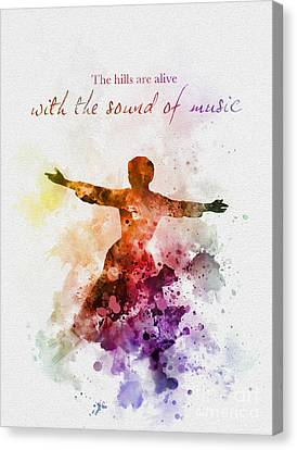 The Sound Of Music Canvas Print by Rebecca Jenkins