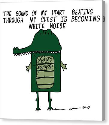 The Sound Of My Heart Beating - Color Canvas Print by Karl Addison