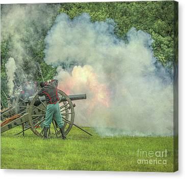 The Sound Of The Cannon Canvas Print by Randy Steele