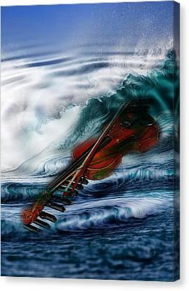 The Sound Of The Waves Canvas Print by Angel Jesus De la Fuente