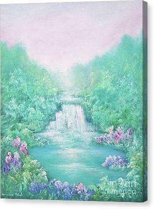 The Sound Of Water Canvas Print by Hannibal Mane