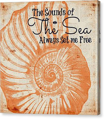 The Sounds Of The Sea Always Set Me Free Canvas Print by Brandi Fitzgerald