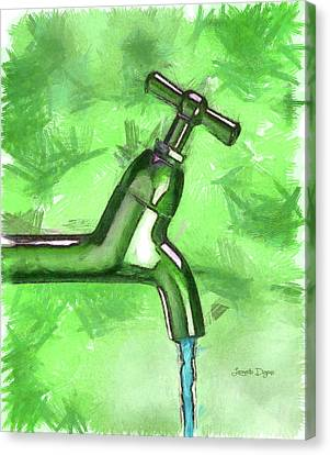 Faucet Canvas Print - The Source by Leonardo Digenio