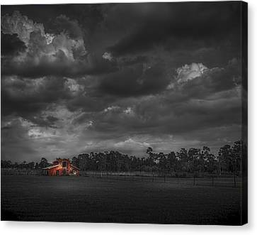 Barn Storm Canvas Print - The South Forty by Marvin Spates