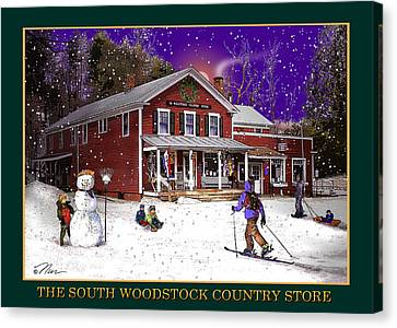 The South Woodstock Country Store Canvas Print by Nancy Griswold