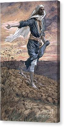 Parable Canvas Print - The Sower by Tissot