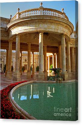 Canvas Print featuring the photograph The Spa At Montecatini Terme by Nigel Fletcher-Jones