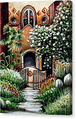 The Spanish Gardens Canvas Print by Elizabeth Robinette Tyndall