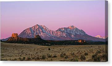The Spanish Peaks Canvas Print by Aaron Spong